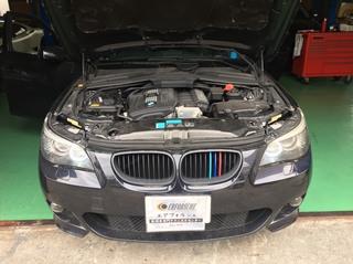 BMW E61 後部ドアガラス不動!!